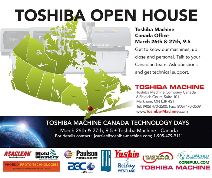 Injection Molding Tech Days - Toronto Canada - March 26th